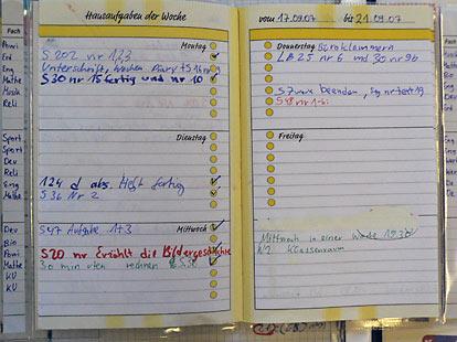 Wochenplanung: Hausaufgaben sind wie frische Brote - CJD-UPDATE