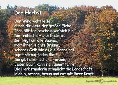 Gedicht baum im herbst