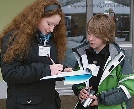 Jana Hommel, Jonas Knupp, Online-Redaktion © A. Bubrowski/CJD-UPDATE