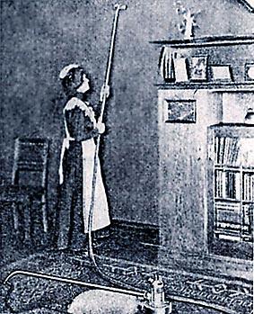 Staubsauger von 1906. Wie eine Staubsaugerrohr alles Bewegliche vor sich aufsaugt, nimmt das Kurzzeitgedächtnis alle EIndrücke auf. Foto: gemeinfrei