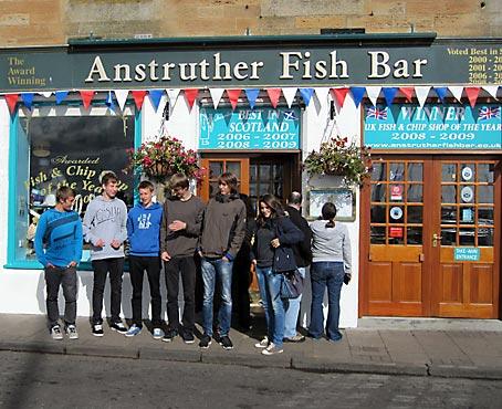 Das berühmteste Fish-and-Chips-Restaurant Schottlands. Foto: privat