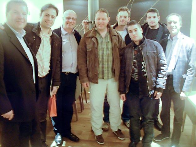 (v. l.) Franz Drescher, Jorge de La Calle San Martín, Winfried Heger, Jochen Ring, Dirk Beyer, die beiden spanischen Praktikanten Rodrigo und Carlos und Rainer Glanz. Foto: privat