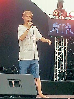 Poetry Slam auf dem Hessentag 2013 in Kassel. Foto: privat