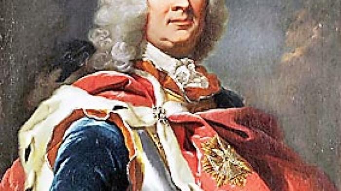 Landgraf Wilhelm VIII. von Hessen-Kassel. Gemälde von Johann Heinrich Tischbein dem Älteren, um 1755