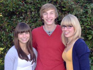 Kandidaten zur Wahl der Schulsprecher (v. l.): Katharina Conrad, Lukas Wickert, Luisa Vennenbernd.Foto: privat