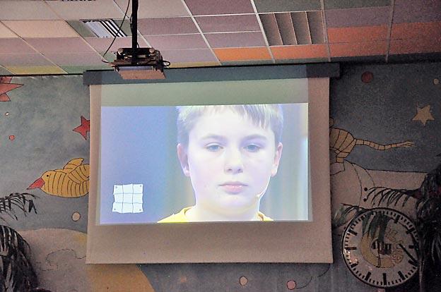 Im Fernsehen... Bild: Ch. Kramer/CJD Oberurff