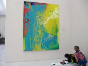Moderne Kunst, die gefällt.Foto: Jona Pollmächer/CJD Oberurff
