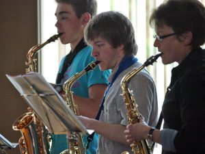 Saxophon-Trio eröffnet Frühlingskonzert. Bild: A. Bubrowski/CJD Oberurff