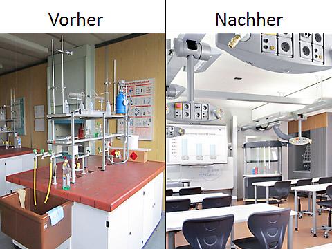 Klassenraum Chemie. Abb.: CJD Oberurff