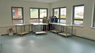 Physik-Haus kurz vor der Bestuhlung | Bild: A. Bubrowski/CJD Oberurff