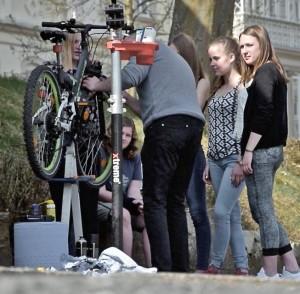 Theorie und Praxis rund um die Fahrradtechnik.Foto: privat