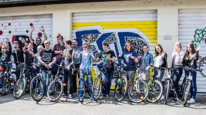 Projekttag der 9g rund um die Fahrradtechnik. Foto: privat
