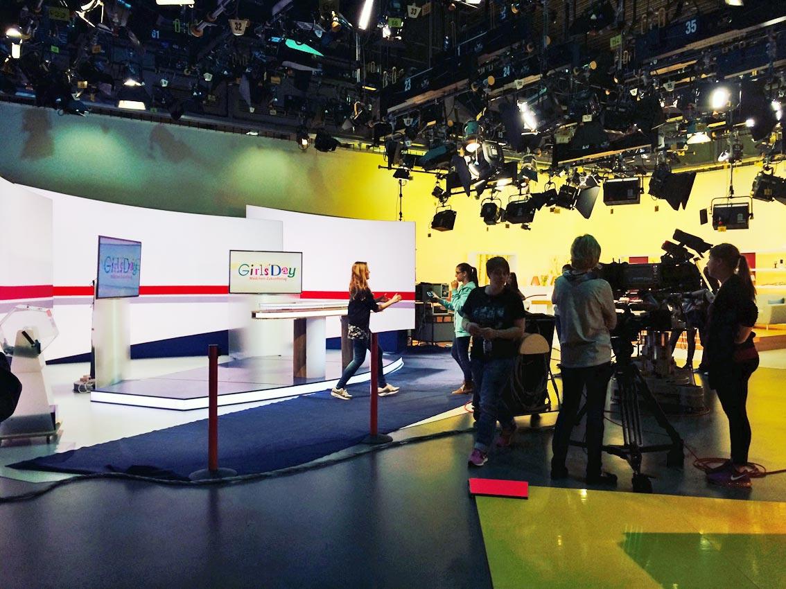 Im TV-Studio der Hessenschau. Foto: privat