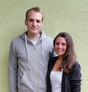 Kandidaten Johannes Strohm und Karlotta Koch.Foto: privat