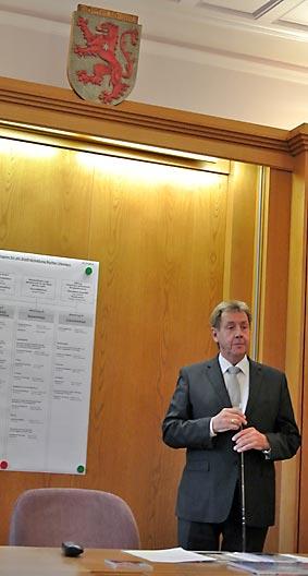 Bernd Hessler, Bürgermeister von Borken (Hessen) . Foto: Jonathan Bär/CJD Oberurff