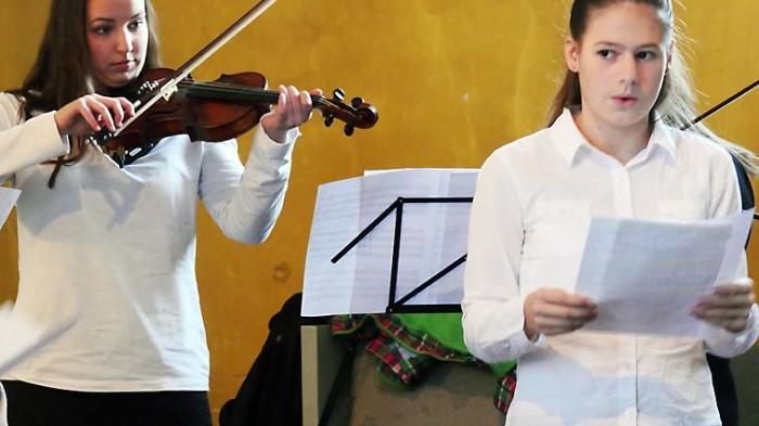 Schülerinnen der Musikschule des CJD Oberurff.