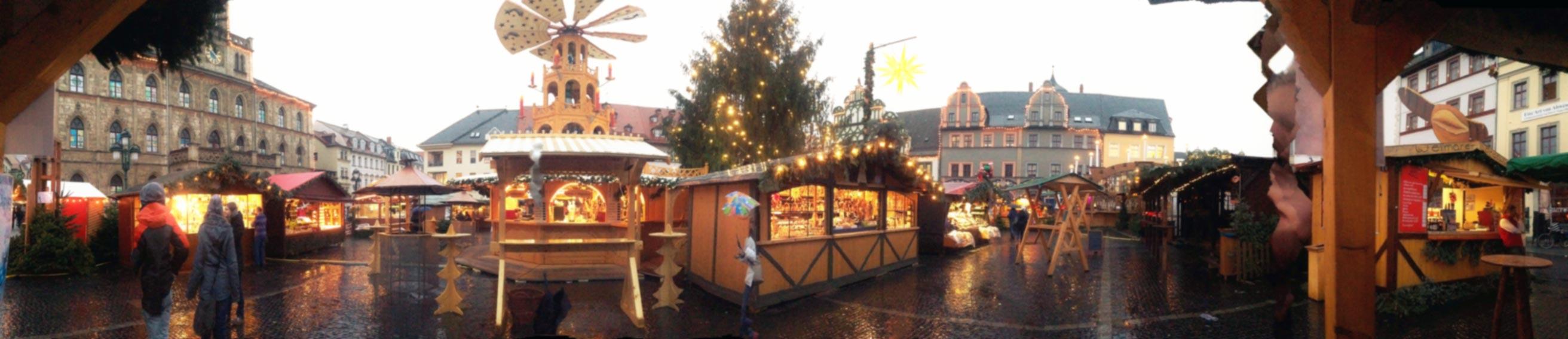 Kulturstadt Weimar mit Weihnachtsmarkt. Foto: privat