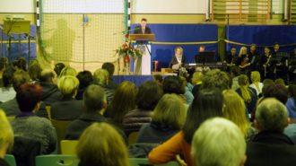 Ansprache Schulleiter Günter Koch. Bild: A. Bubrowski/CJD Oberurff
