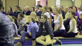 Zuschauer verfolgen gebannt das Geschehen. Bild: A. Bubrowski/CJD Oberurff