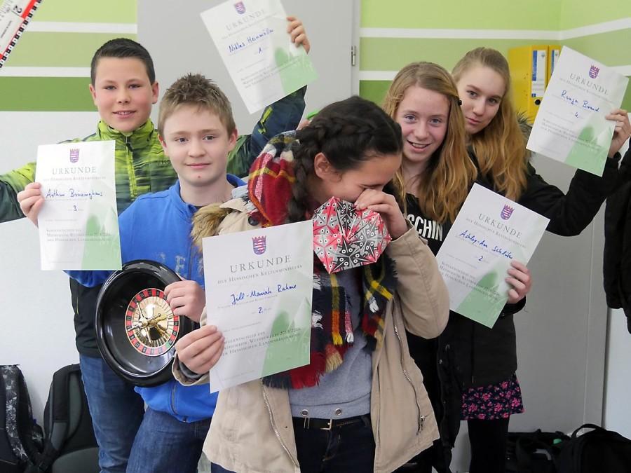 Die Besten des Mathematikwettbewerbs der achten Klassen | Bild: A. Bubrowski/CJD Oberurff