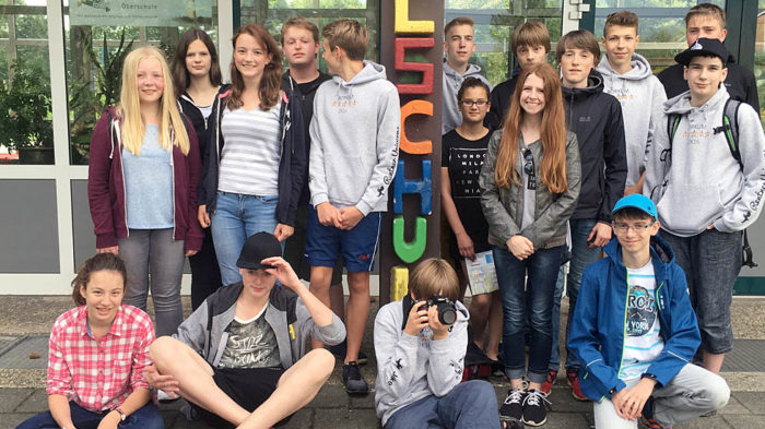 8a bei der Foto-Ralley am ersten Tag auf Borkum.