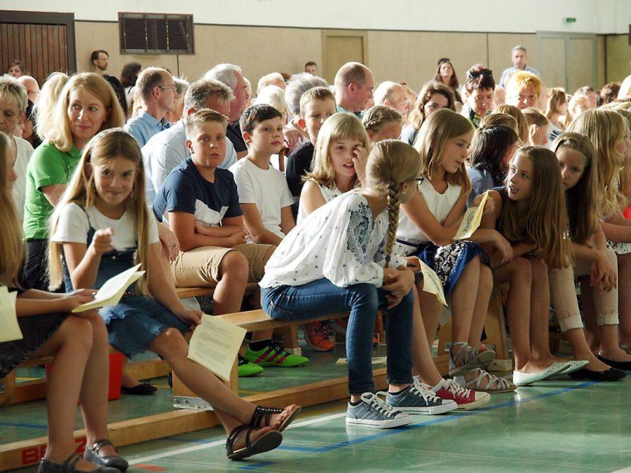 Unsere neuen Fünftklässler bei der Schulaufnahme   Bild: Andreas Bubrowski/CJD Oberurff