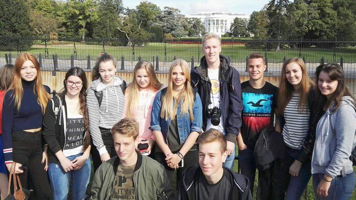 Schüleraustausch USA 2016: Oberurffer vor dem Weißen Haus | Foto: privat