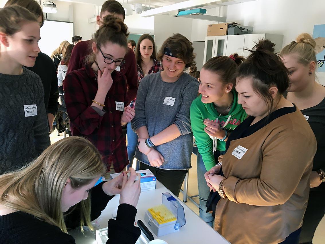 Vorbereitung der Gelelektrophorese | Foto: Ch. Stelling/CJD Oberurff