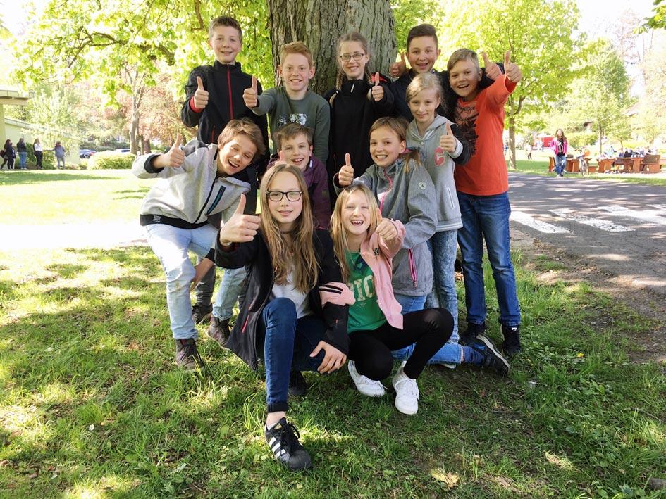 Teilnehmer am Leichtathletik-Wettkampf in Guxhagen | Foto: Andreas Bubrowski/CJD Oberurff