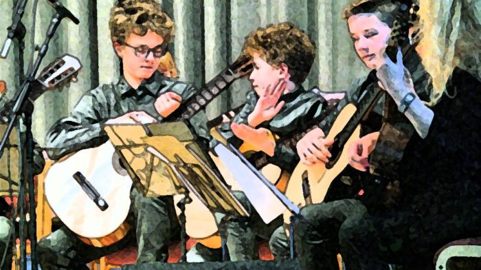 Gitarrenensemble zur Eröffnung | Bild: Andreas Bubrowski/CJD Oberurff