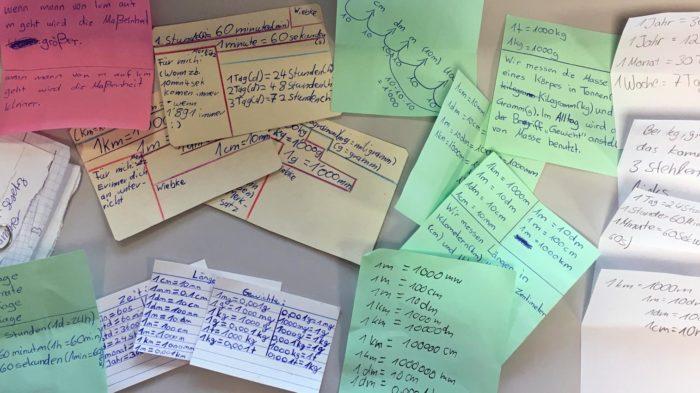 Spickzettel - hilfreiche Lerntechnik in Mathematik | Foto: A. Bubrowski/CJD Oberurff