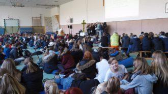 Gottesdienst in der Turnhalle | Foto: A. Bubrowski/CJD Oberurff
