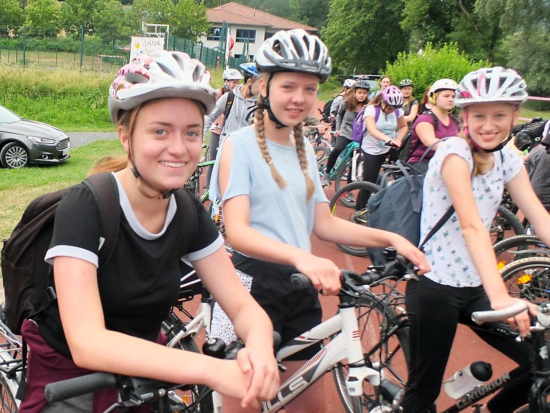 Vor der Fahrradtour | Foto: M. Moniac/CJD Oberurff
