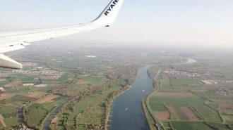 In den Osterferien in Manchester: Der Rhein von oben | Foto: Dennis Ruhwedel/CJD Oberurff