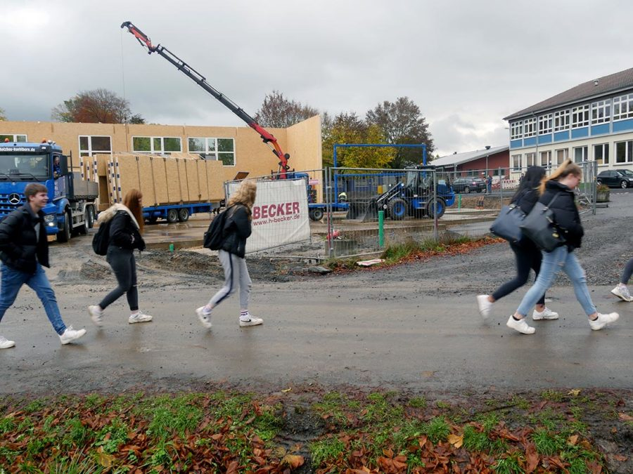 Turnhallen-Neubau: Bald fertig? | Foto: A. Bubrowski/CJD Oberurff