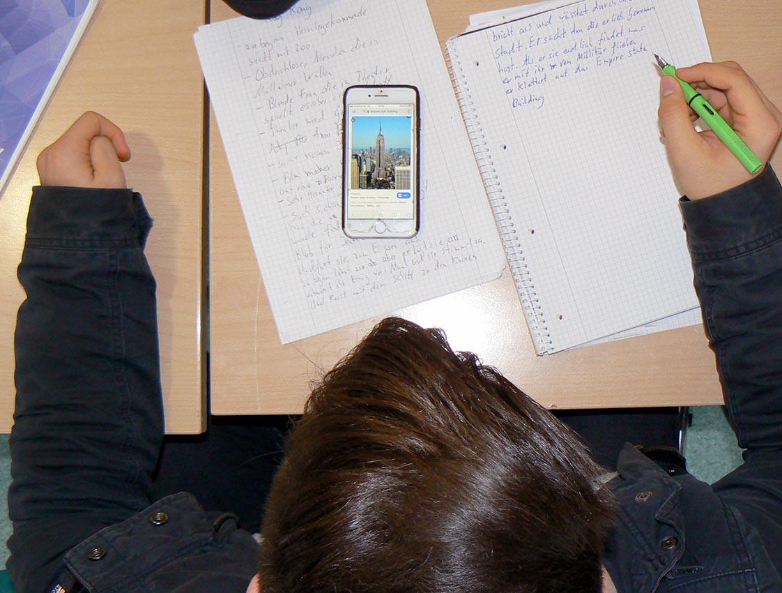 Hausaufgaben. Foto: D. Müller-Maguhn/CJD Oberurff