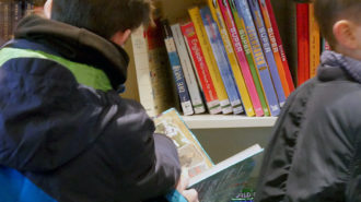 Andrang in der Jugendbibliothek | Foto: BUB/CJD Oberurff