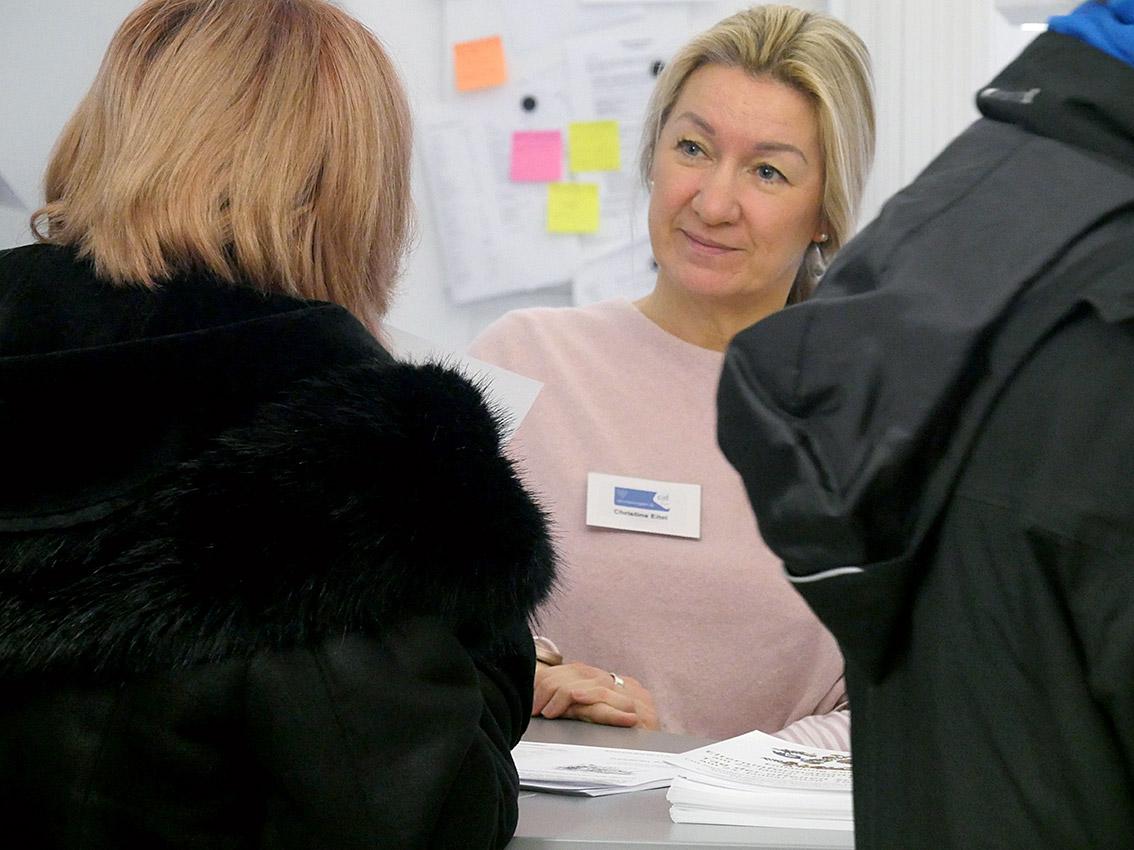Beratung im Sekretariat: Christina Eitel | Foto: BUB/CJD Oberurff