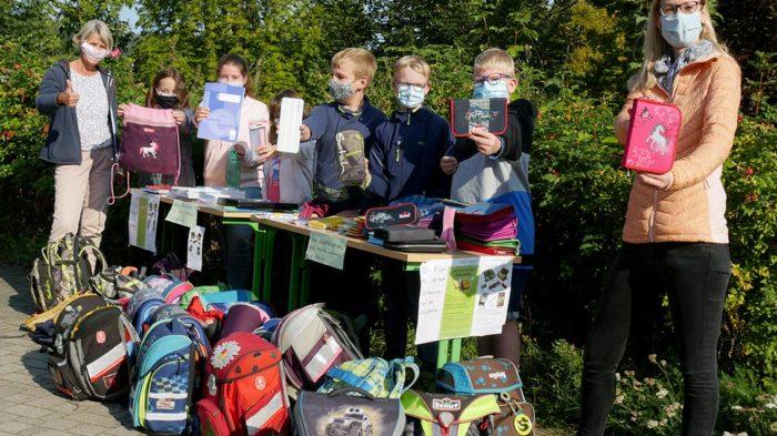 Schulranzen-Spendenaktion am 8. und 11. September 2020. Foto: BUB